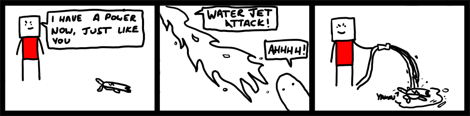 Water Jet Attack!